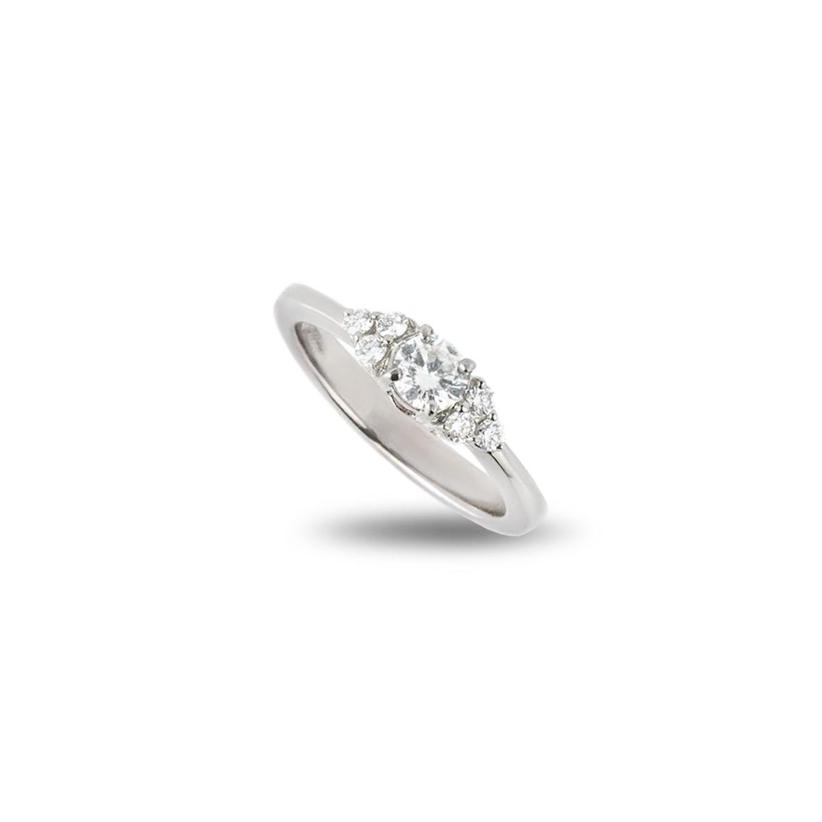 White Gold Round Brilliant Cut Ring 0.33ct H/VS